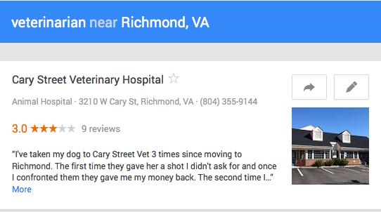 Google+ Local Veterinarian Review